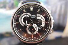 Huge, Sporty Casio Beside 45mm SS Black Dial 3 reg Chrono Quartz Date