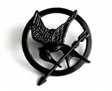 SPILLA HUNGER GAMES MOCKINGJAY PIN GHIANDAIA BADGE KATNISS COSPLAY GADGET BLACK