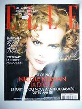 Magazine mode fashion ELLE French #3026 29 décembre 2003 Nicole Kidman