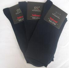 3 P Socken XXL ohne Gummi Gesundheitssocken Baumwolle Elasthan blau 47 - 50