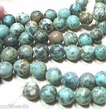 "African Turquoise 12mm Round Spacer Beads 15.5"" Semi Precious Gem Stone"