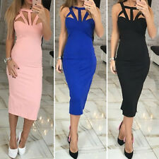 Korean Womens Short Dresses Bandage Bodycon Cocktail Party Dress Long Sleeve