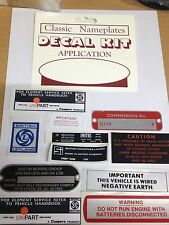 MG MGB GT DECAL SET + CHASSIS PLATE KIT 1972 -1975 MGK2011 Logo