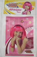 LAZY TOWN Party FAVOR BAGS Loots Birthday Supplies x25 Stephanie Girl Pink *NEW*