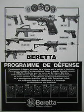 9/1986 PUB BERETTA PM 12S WEAPON AUTOMATIC RIFLE PISTOLET AUTOMATIQUE 92F AD
