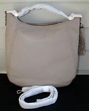 NWT~ Michael Kors Women's Frances XLarge Leather Shoulder Handbags $398~DK TAUPE
