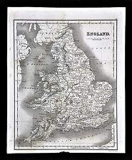 1827 Neele Map England Wales London Bristol Liverpool Oxford Salisbury Stratford