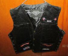 New, Diamond-Plate Buffalo LEATHER Vest, 2 X, With Sticker, Bikers