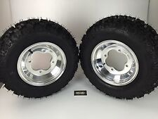 NEW Honda TRX450R TRX400EX Polished Aluminum Front Rims & MassFx Tires Wheels
