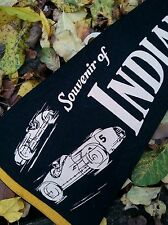 Vintage Indianapolis Speedway black pennant circa 1940's / 29 inches ULTRA RARE