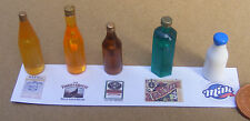 1:12 Scale 5 Assorted Bottles With Labels Dolls House Miniature Pub Bar Set 4