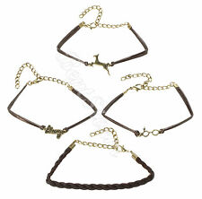Harry Potter The DEATHLY HALLOWS Braid Cord Metal Bracelet 4 Pack Jewelry NEW
