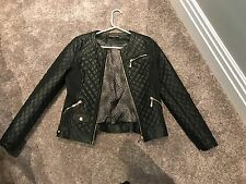 NEVER WORN - Size 8 Faux Leather Jacket