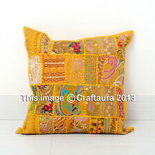 """Vintage Embroidered Decor Throw Pillow Cushions Extra Large Pillow Cover 24X24"""""""