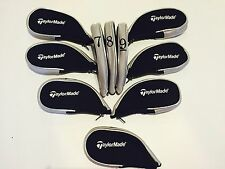 10 x Taylormade Iron Covers Zipped Golf Club Head Covers 2017 Stock Now Inc LW