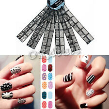 6 Sheets Stamping Nail Art Template Stickers Stamp Stencil Guide Reusable Tips