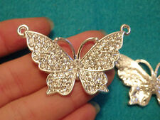 large butterfly charms rhinestone crystal pendant beads jewelry making wholesale