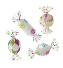 Candy Christmas Ornaments~Glittered Glass Wrapped Ornaments Set of 4 RAZ Imports