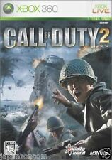 Used Xbox 360 Call of Duty 2 MICROSOFT  JAPAN JAPANESE JAPONAIS IMPORT