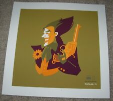 THE JOKER batman cesar romero poster art silkscreen print Tom Whalen sn/75