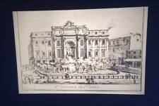 "Giovanni Piranesi ""Trevi Fountain, Rome"" 35mm Italian Art Etching Glass Slide"