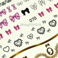 water transfer nail sticker decals for nail art decoration Lace Bow tie design