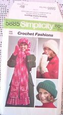 5885 CROCHET SEWING PATTERN~1973~WINTER FASHIONS~MISSES HAT & MITTENS & SCARF