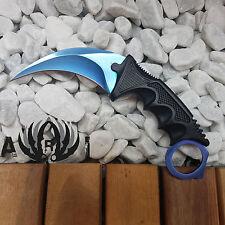 Counter Karambit BLUE STEEL GO Skin Real Knife CS Strike Messer NEU
