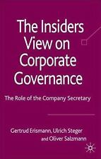 The Insider's View on Corporate Governance: The Role of the Company Secretary F