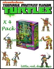 Teenage Mutant Ninja Turtles Exclusive 4 Pack Action Figures TMNT  Weapons 12cm