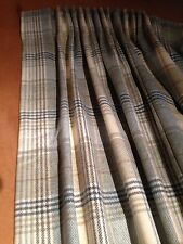 Abraham Moon Kincraig Tartan Lined Curtains Made To Measure Hand Sewn All 7 Col