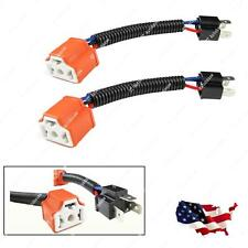 H4 9003 Ceramic Wire Harness Adpters Plug Cable Headlights Connector Extension