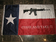3x5 Texas Come and Take it Machine Gun Double Sided 2ply Solarmax Nylon flag