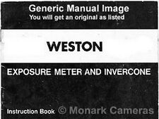 Weston Euro Master II Exposure Meter Instruction Book, Other Manuals Listed