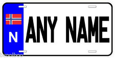 Norway Personalized Any Name Novelty Auto License Plate N