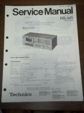 Original Technics Service Manual for the RS-M5 Cassette Deck~Repair