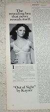 1973 advert - Kayser lingerie bra sexy girl -Out of Sight- vintage Print AD