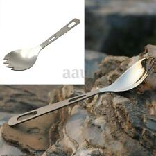 Titanium Boundless Voyage Spork Camping Fork Outdoor Picnic Spoon Handle Cutlery