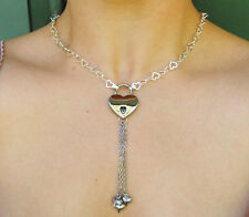 One of a Kind - 925 Sterling Silver Chain Locking BDSM Slave Bondage Day Collar
