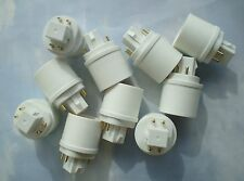 TEN PACK Adapters to Use E27/E26 Light Bulbs in a GX24- 4 PIN fixture base