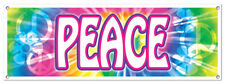 **PEACE SIGN BANNER**BIRTHDAY*THEMED PARTY** 5' X 21""