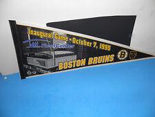 """NHL Boston Bruins Inaugural Game Fleet Center 10-7-1995 Pennant 12"""" X 30"""""""