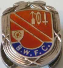 BOLTON WANDERERS Very rare 1953 Hallmarked silver badge Maker VAUGHTON & Sons