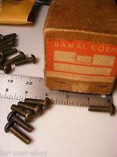 """Brass Slotted Round Head Machine Screw 5/16 x 1"""" 18 TPI Pack of 6 Made in USA"""