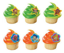 Bubble Guppies Gil and Molly Cake Cupcake Rings and Party Favors NEW