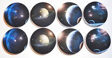 8 Outer Space Planet Wooden Dresser Baby Bedding Cordinate Drawer Knobs Pulls