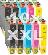 10 CARTUCHOS COMPATIBLES NONOEM EPSON T1811 -T1814 XP-412 XP-415 XP 302