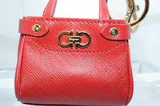 Salvatore Ferragamo Keychain Red Mini Purse Keyfob Key Hook Women's NIB