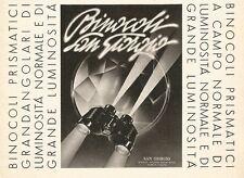 W2494 SAN GIORGIO - Binocoli Prismatici - Pubblicità 1938 - Old advertising