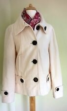 Next very pale pink button front jacket size 14 velvet / velour feel 100% cotton